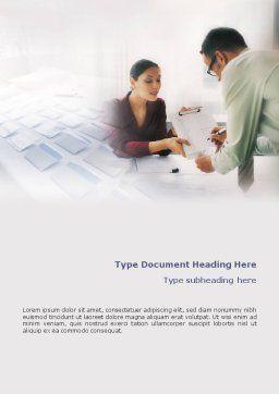 Personal Secretary Word Template, Cover Page, 01866, Education & Training — PoweredTemplate.com