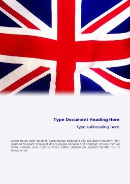British Flag Word Template, Cover Page, 01868, Flags/International — PoweredTemplate.com