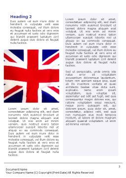 British Flag Word Template, Second Inner Page, 01868, Flags/International — PoweredTemplate.com
