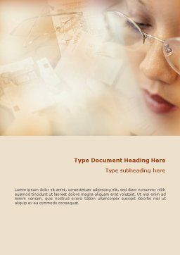 Accounting Word Template, Cover Page, 01870, Financial/Accounting — PoweredTemplate.com