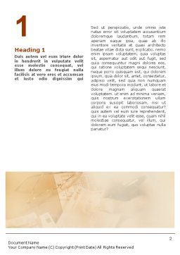 Accounting Word Template, First Inner Page, 01870, Financial/Accounting — PoweredTemplate.com