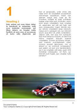 Formula One Word Template, First Inner Page, 01874, Sports — PoweredTemplate.com