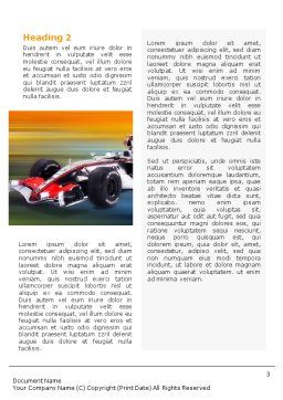 Formula One Word Template, Second Inner Page, 01874, Sports — PoweredTemplate.com