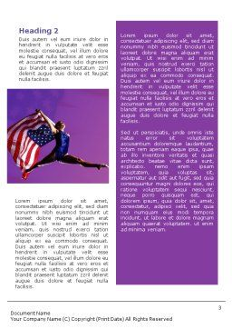 American Sports Word Template, Second Inner Page, 01877, Sports — PoweredTemplate.com
