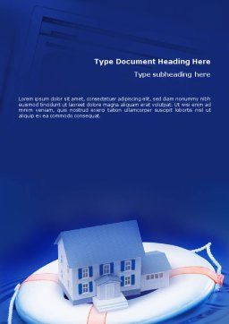 Property Insurance Word Template, Cover Page, 01878, Business Concepts — PoweredTemplate.com