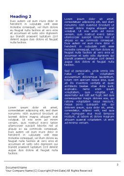 Property Insurance Word Template, Second Inner Page, 01878, Business Concepts — PoweredTemplate.com