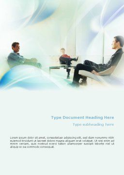 Recommendation Word Template, Cover Page, 01880, Consulting — PoweredTemplate.com
