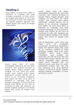 Caduceus In Deep Blue Colors Word Template, Second Inner Page, 01881, Medical — PoweredTemplate.com