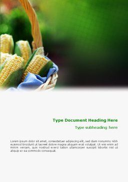 Corn Word Template Cover Page