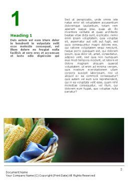 Corn Word Template First Inner Page