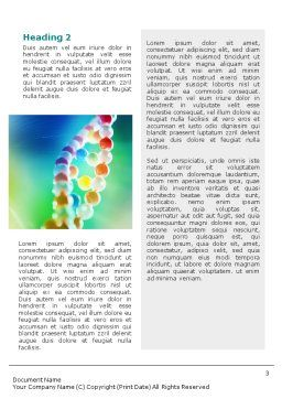 DNA On A Green Yellow Blue Word Template, Second Inner Page, 01884, Medical — PoweredTemplate.com
