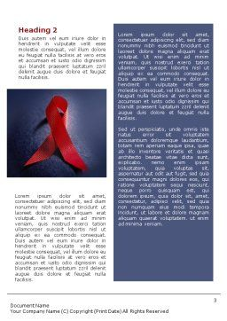 AIDS Word Template, Second Inner Page, 01892, Medical — PoweredTemplate.com