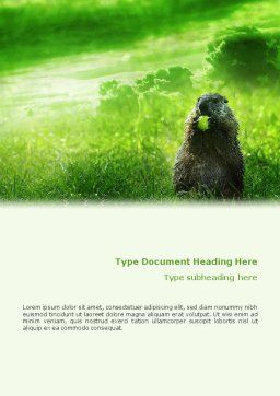 Groundhog Word Template Cover Page
