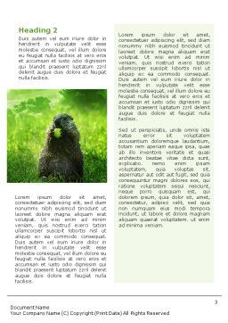 Groundhog Word Template Second Inner Page