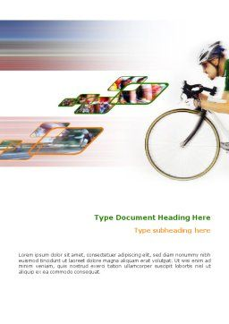 Tour de France Word Template, Cover Page, 01895, Sports — PoweredTemplate.com