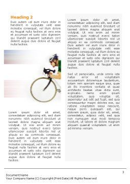Tour de France Word Template, Second Inner Page, 01895, Sports — PoweredTemplate.com