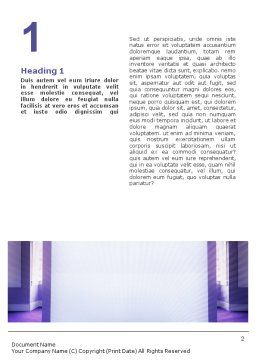 Interior In Violet Word Template, First Inner Page, 01896, Consulting — PoweredTemplate.com