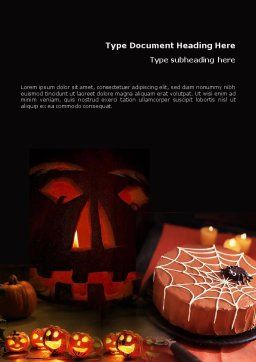 Halloween Pumpkin Word Template, Cover Page, 01899, Holiday/Special Occasion — PoweredTemplate.com
