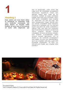 Halloween Pumpkin Word Template, First Inner Page, 01899, Holiday/Special Occasion — PoweredTemplate.com