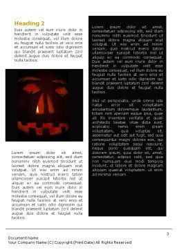 Halloween Pumpkin Word Template, Second Inner Page, 01899, Holiday/Special Occasion — PoweredTemplate.com