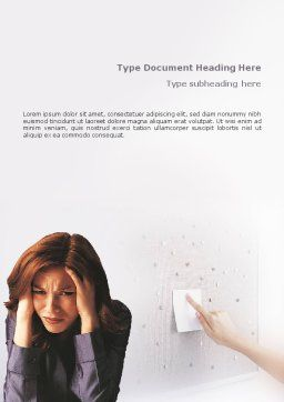 Stress Word Template, Cover Page, 01901, Medical — PoweredTemplate.com