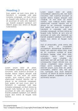 Snowy Owl Word Template Second Inner Page