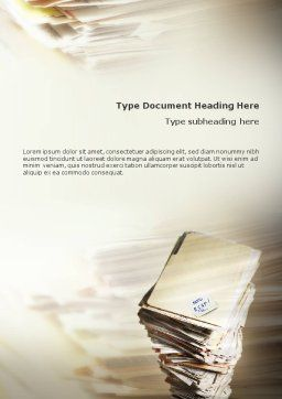 Document Management Word Template, Cover Page, 01903, Business — PoweredTemplate.com