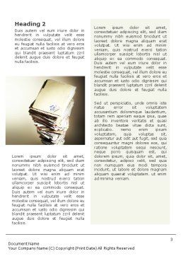 Document Management Word Template, Second Inner Page, 01903, Business — PoweredTemplate.com