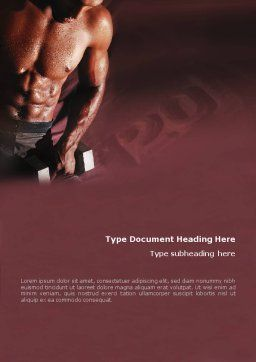 Body Building Word Template, Cover Page, 01908, Sports — PoweredTemplate.com