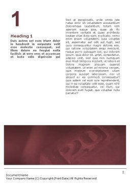 Body Building Word Template, First Inner Page, 01908, Sports — PoweredTemplate.com