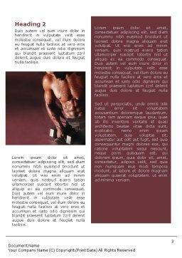 Body Building Word Template, Second Inner Page, 01908, Sports — PoweredTemplate.com