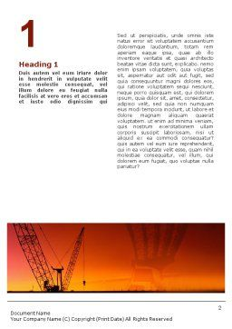 Road Building Word Template, First Inner Page, 01909, Construction — PoweredTemplate.com