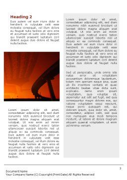 Road Building Word Template, Second Inner Page, 01909, Construction — PoweredTemplate.com