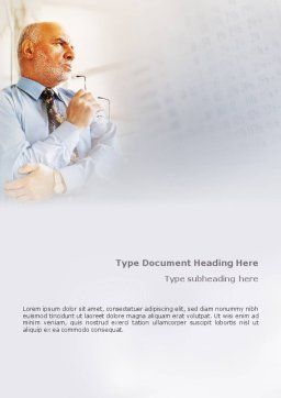 Financial Analytic Word Template Cover Page