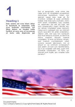 Statue of Liberty With American Flag Word Template First Inner Page