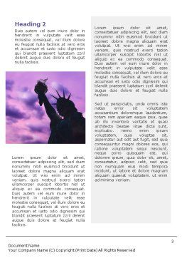 Statue of Liberty With American Flag Word Template Second Inner Page