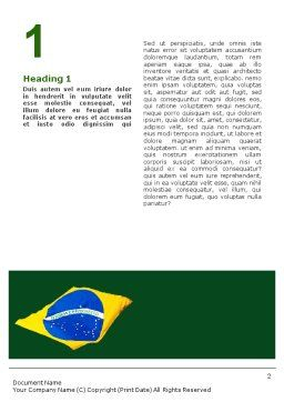 Brazilian Flag Word Template First Inner Page