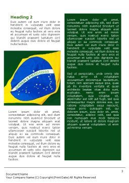 Brazilian Flag Word Template Second Inner Page