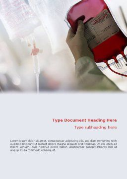 Blood Transfusion Word Template, Cover Page, 01917, Medical — PoweredTemplate.com