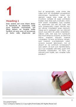 Blood Transfusion Word Template, First Inner Page, 01917, Medical — PoweredTemplate.com
