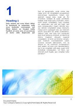 Nanotechnology Word Template, First Inner Page, 01921, Technology, Science & Computers — PoweredTemplate.com