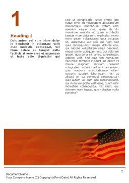 Presidents Day Word Template, First Inner Page, 01925, Holiday/Special Occasion — PoweredTemplate.com