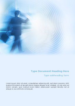 Foggy Perspective Word Template, Cover Page, 01927, Business — PoweredTemplate.com