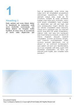 Foggy Perspective Word Template, First Inner Page, 01927, Business — PoweredTemplate.com