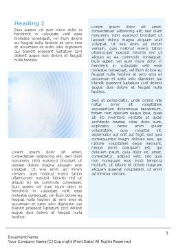 Foggy Perspective Word Template, Second Inner Page, 01927, Business — PoweredTemplate.com