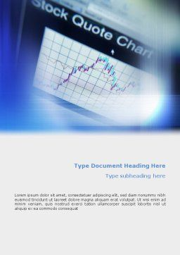 Stock-Market Word Template Cover Page