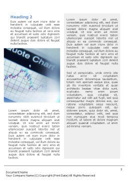 Stock-Market Word Template Second Inner Page