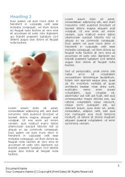 Piggy Bank And Coins Word Template Second Inner Page