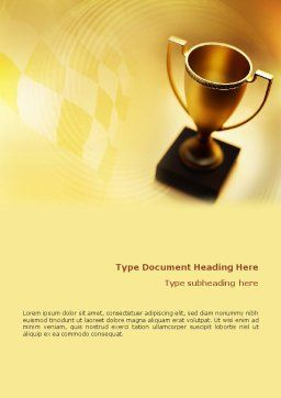 Winner Cup Word Template, Cover Page, 01933, Sports — PoweredTemplate.com