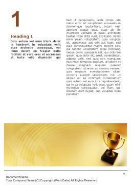Winner Cup Word Template, First Inner Page, 01933, Sports — PoweredTemplate.com